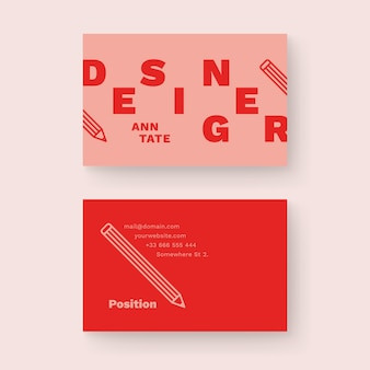 Funny graphic business card template