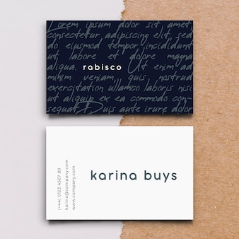 Funny graphic designer business card template in flat design
