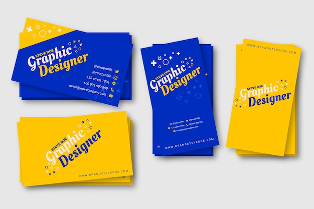 Funny graphic designer business card template