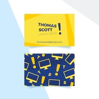 Funny graphic designer business card