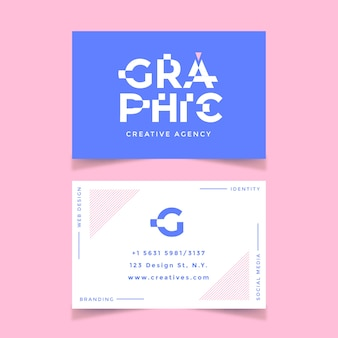Funny graphic designer business card