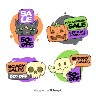 Funny halloween creatures for sale badge collection