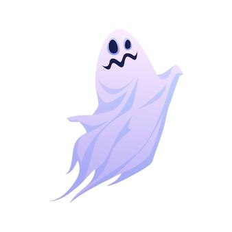 Забавный хэллоуин призрак плавающий вектор видения