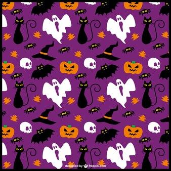 Funny halloween items editable pattern