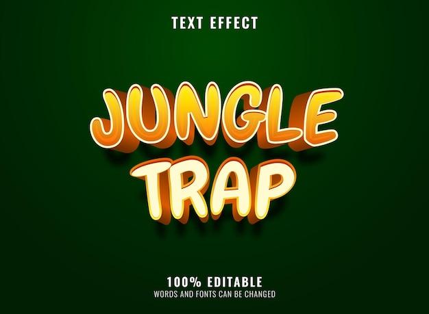 Funny jungle trap editable text effect