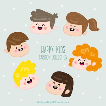 Funny kids faces pack