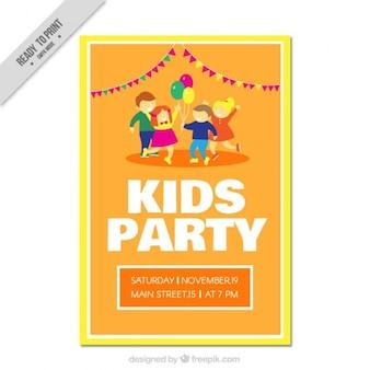 재미있는 키즈 파티 초대장