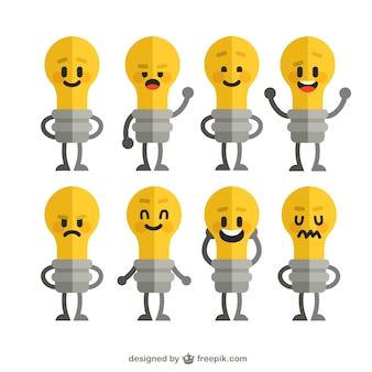 Funny lightbulbs collection
