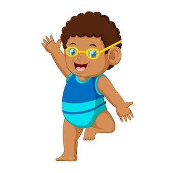Funny little boy cartoon