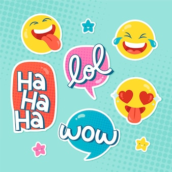Funny lol stickers collection