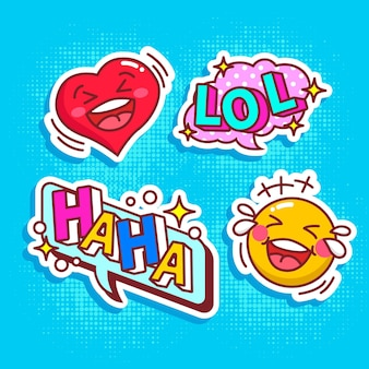 Funny lol stickers concept