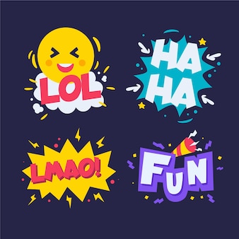 Funny lol stickers pack