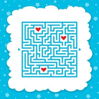 Забавный лабиринт игра для детей. пазл для детей. загадка лабиринта.