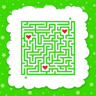 面白い迷路。子供向けのゲーム。子供のためのパズル。迷宮の難問。