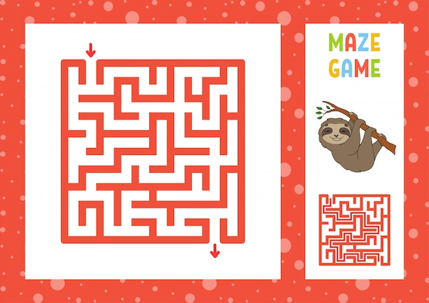 Funny maze. game for kids. puzzle for children. happy character. labyrinth conundrum.