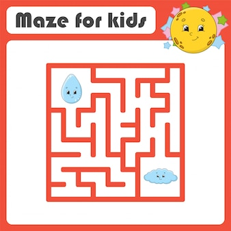 Funny maze. game for kids.