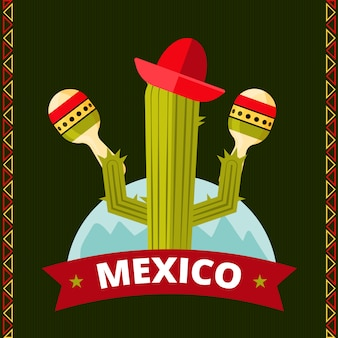 Забавный мексиканский кактус