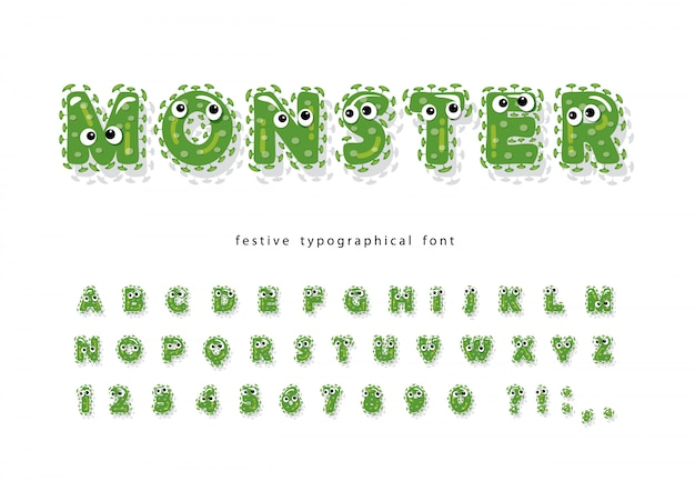 Funny monster kids font.