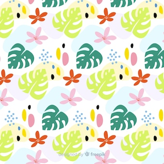 Funny monstera leaves background