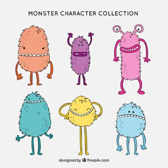 Funny monsters character collection