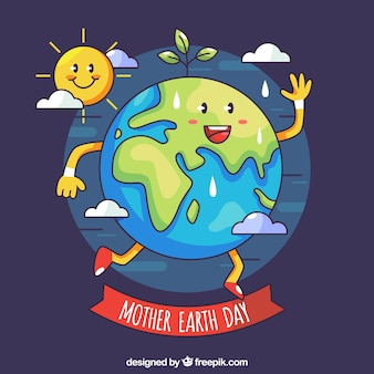 Funny mother earth day background