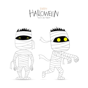 Funny mummy, Halloween