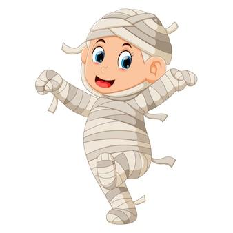 Funny mummy walking