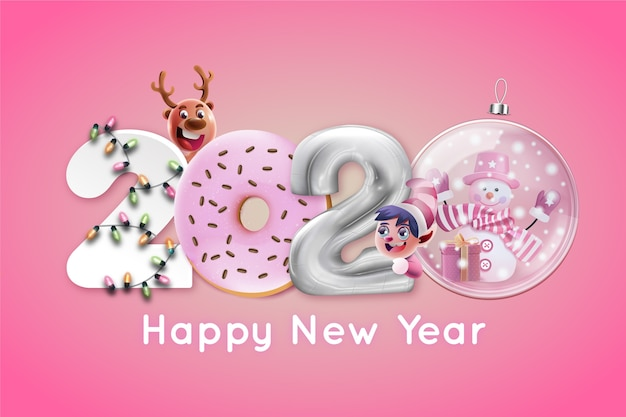 Funny new year 2020 wallpaper