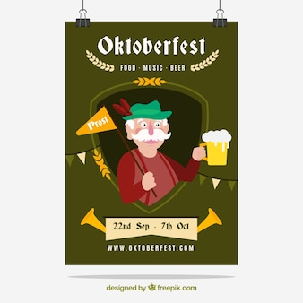 Funny oktoberfest flyer template