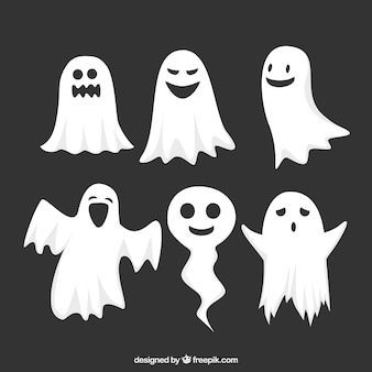 Funny pack of halloween ghosts