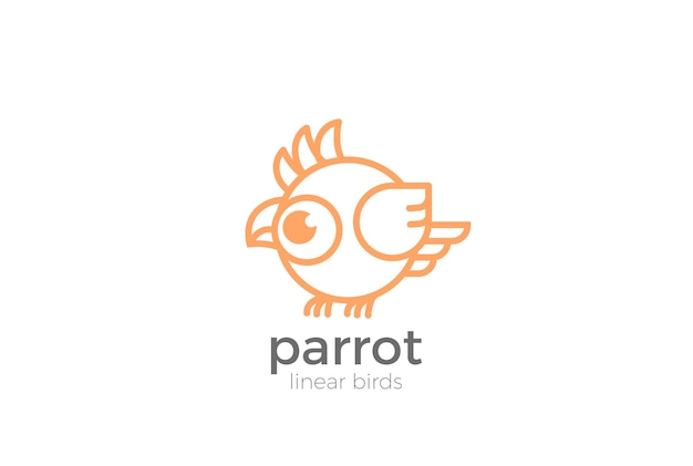 Funny parrot logo