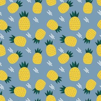 재미있는 파인애플 원활한 패턴