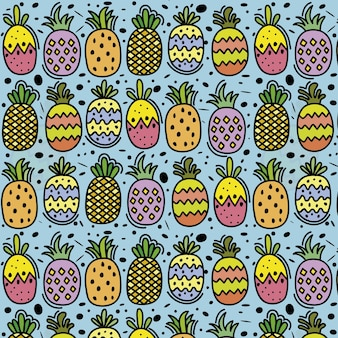 Funny pineapples background