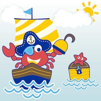 Funny pirate cartoon