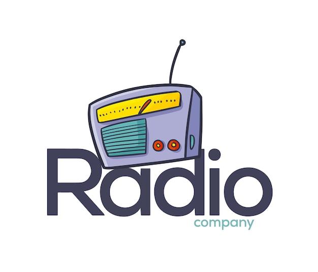 재미 있는 라디오 회사 로고 템플릿