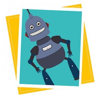 Funny robot cartoon
