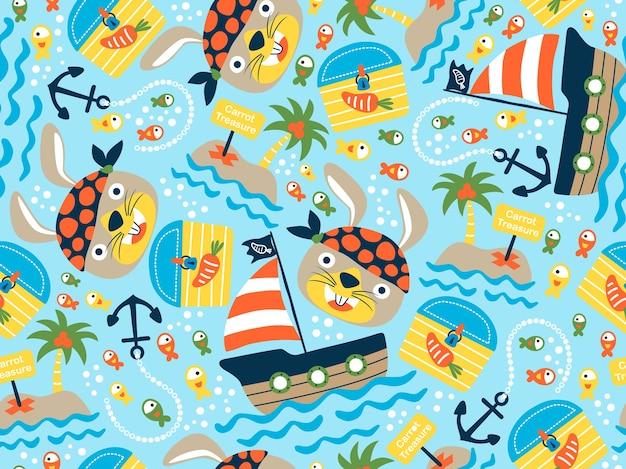 面白い船員または海賊
