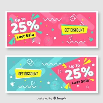 Funny sales banner set