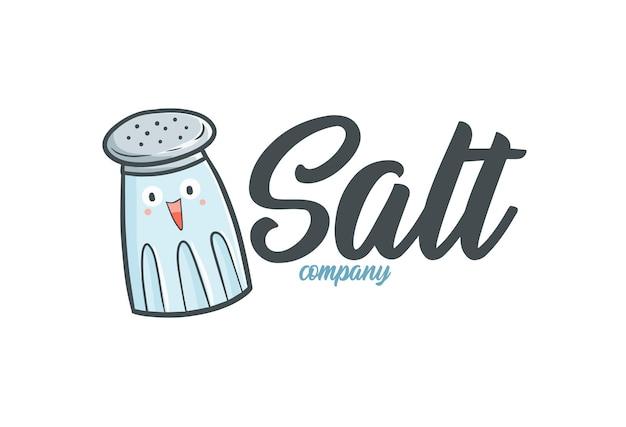 재미 있는 소금 회사 로고 템플릿