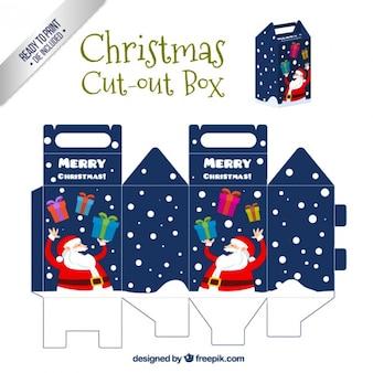 Funny santa claus box