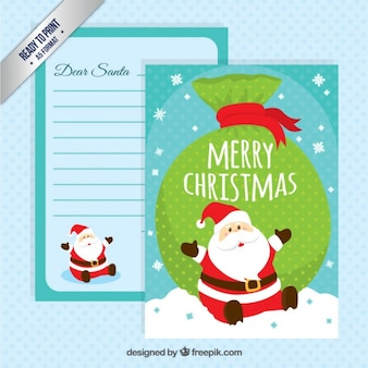 Funny santa claus letter template