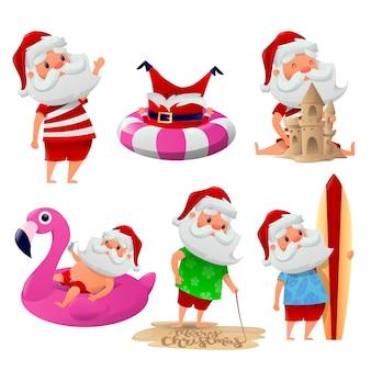 Funny set of santa