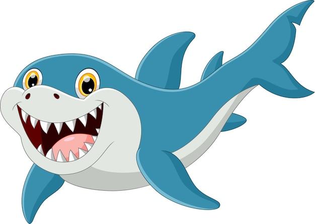 Смешная поза акулы с улыбкой