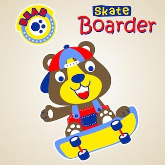 Смешной скейтбордист