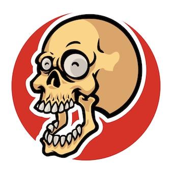 Funny skull head