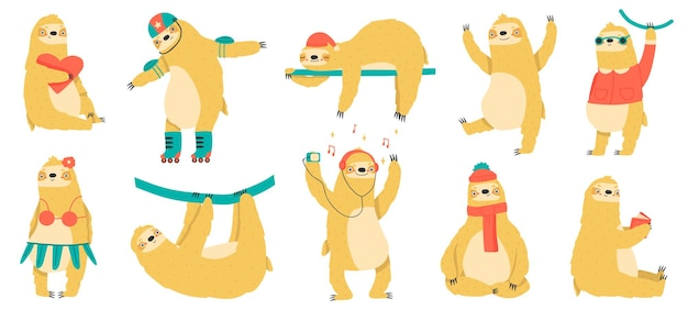 Веселые ленивцы
