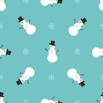 Веселые снеговики. рождественский образец.