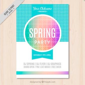 Смешные весной плакат партии