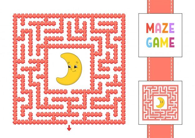 Funny square maze