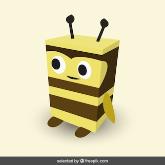 Funny squared bee